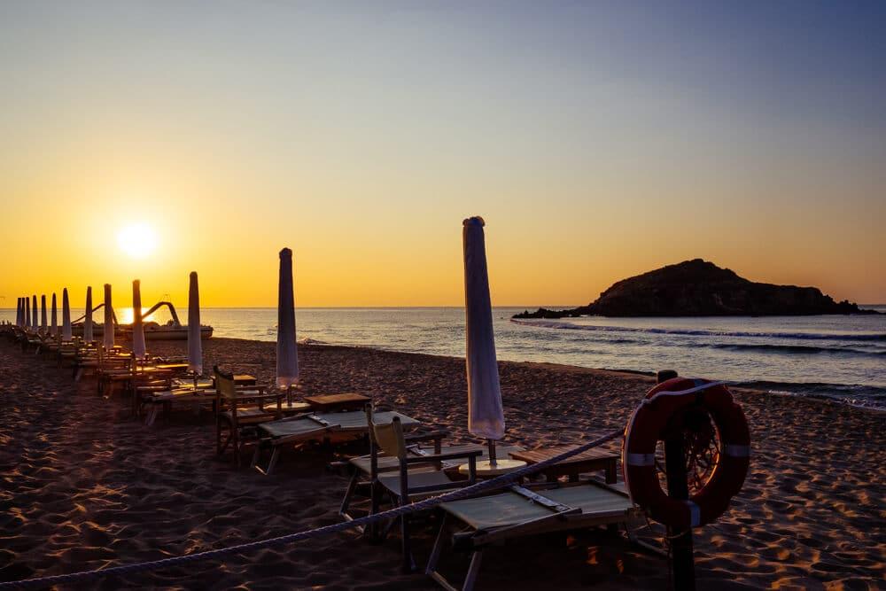 Chia Beach Umbrella Sunrise