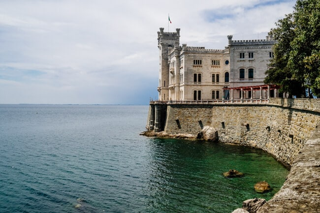 Miramare Castle on the Sea