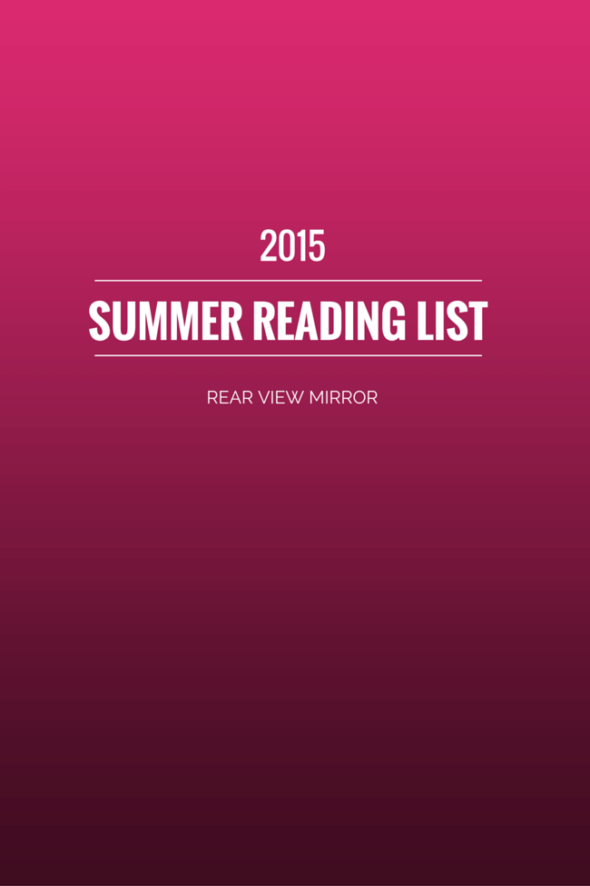 2015 Summer Reading List