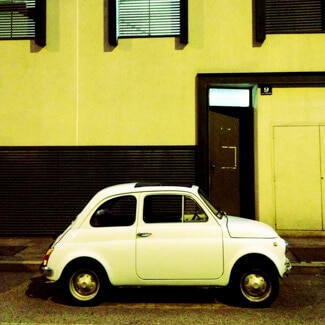 One of 1000s of vintage Fiat 500s in Trieste