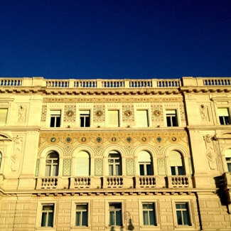 Deep blue skies in Trieste