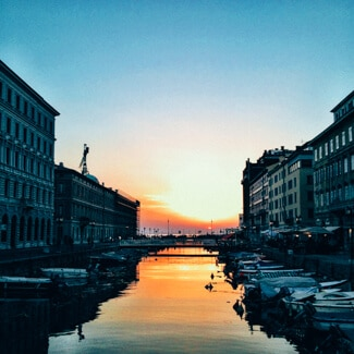 Canal Grande Trieste Sunset