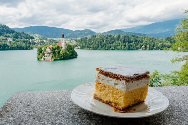 Bled Cream Cake at Tito's Villa