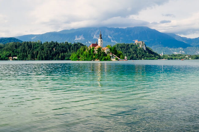 Walking around Lake Bled