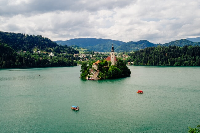 View from Tito's Villa - now Vila Bled