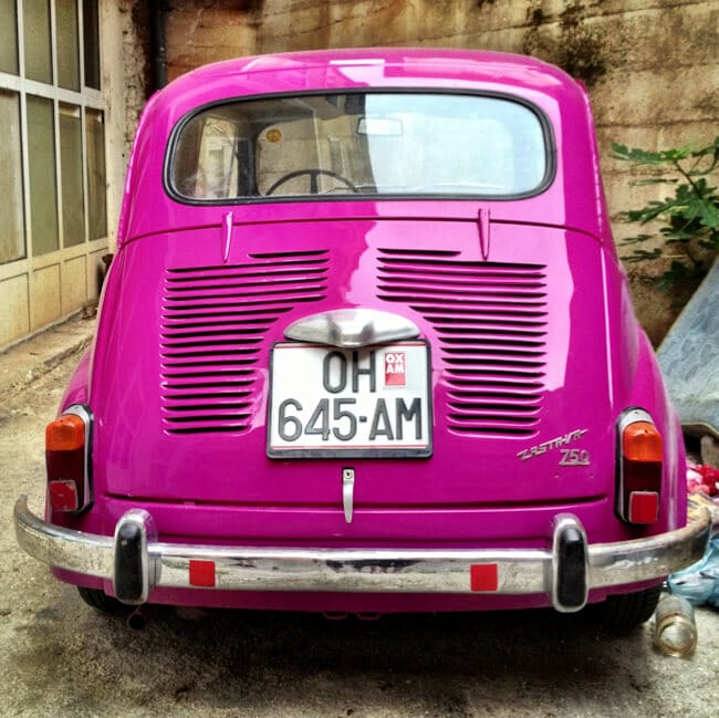 Hot Pink Zastava in Macedonia