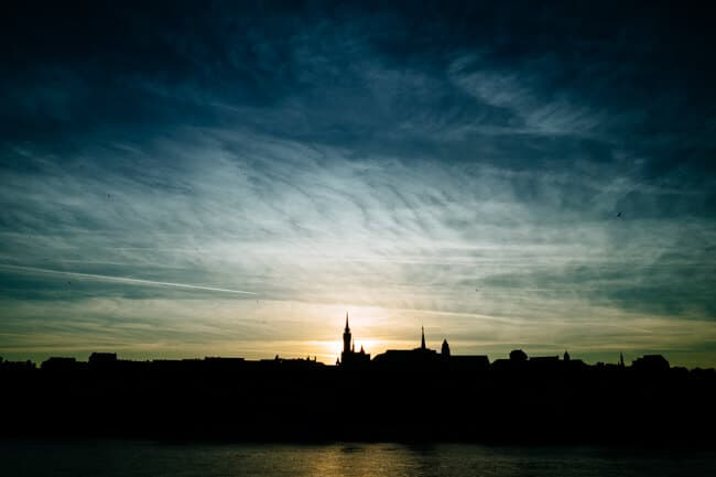 Budapest's Skyline at Sunset