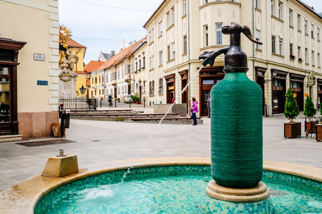 Soda water being made in Gyor