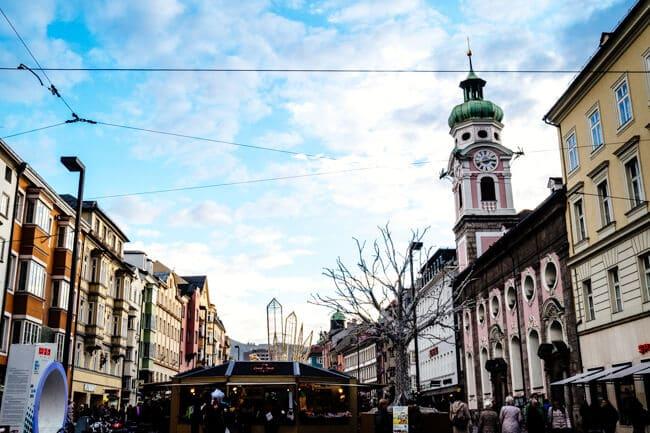 The streets of Innsbruck, Austria
