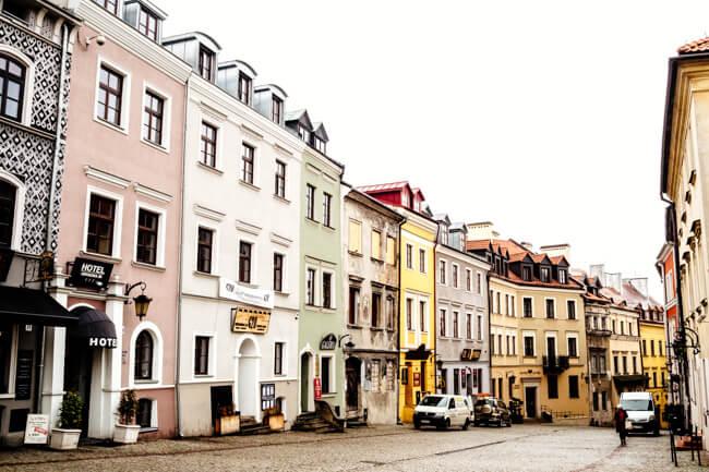 Main Street of Lublin, Poland
