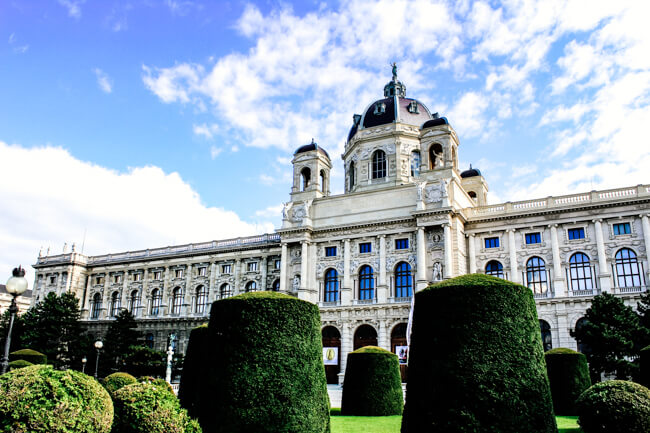 One of the beautiful museums in Vienna