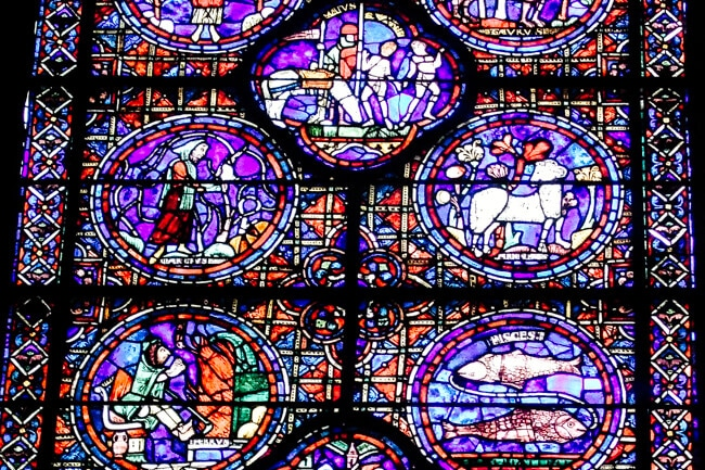 Stained Glass Window Chartres Cathedral