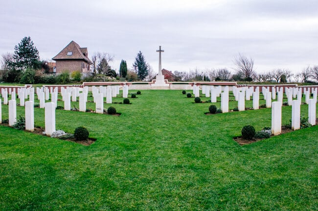 Pheasant Wood Cemetery in Fromelles