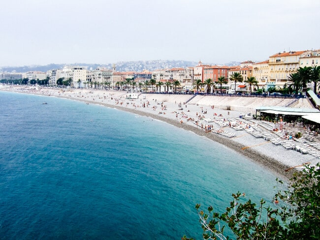 Baie of Anges in Nice, France