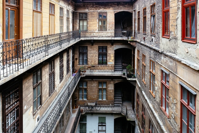 Typical Courtyard in Budapest