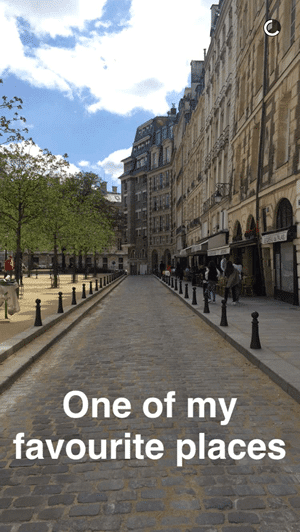 Paris in Four Months Snapchat