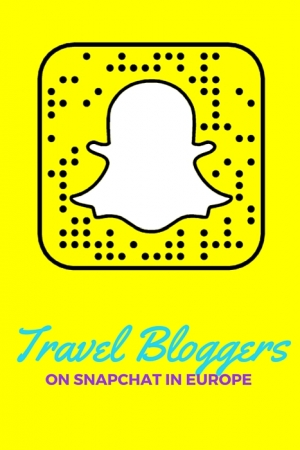 Travel Bloggers on Snapchat in Europe | 2016 Edition