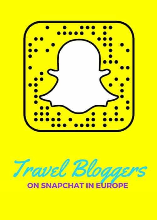 Travel Bloggers on Snapchat in Europe