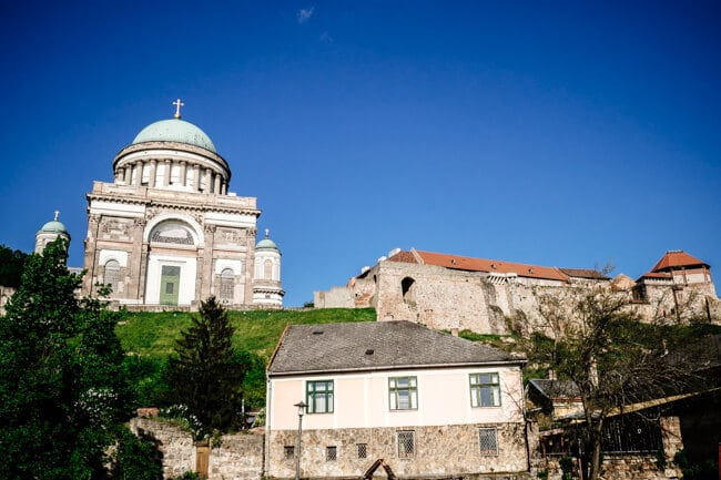 Esztergom from the Danube waterfront.