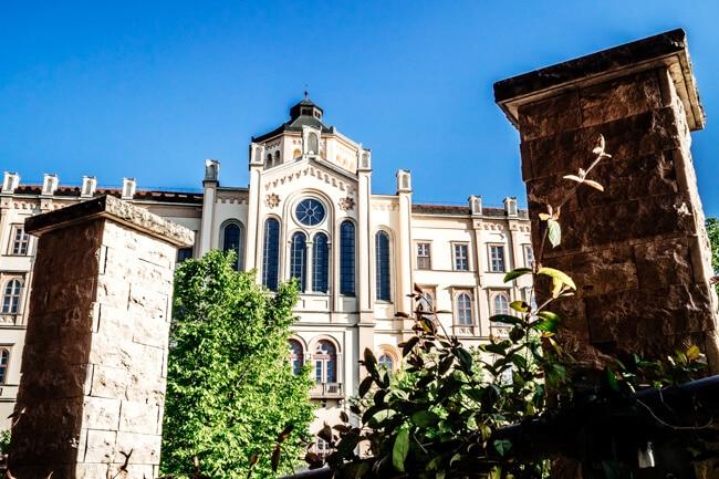 View of the seminary from Szent Adalbert Hotel