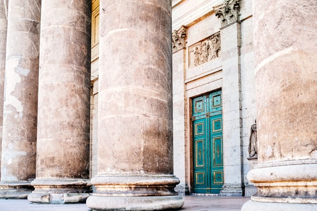 Huge marble columns at Esztergom Basilica