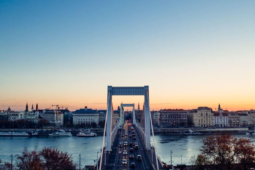 Elizabeth Bridge at Sunrise