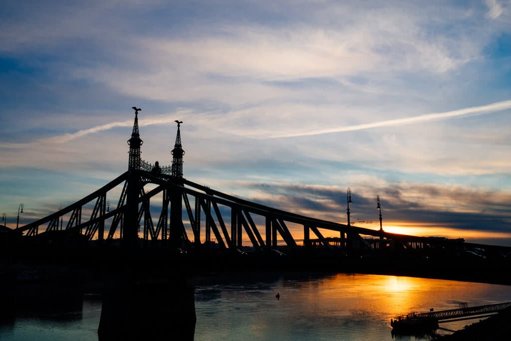 Liberty Bridge Sunrise