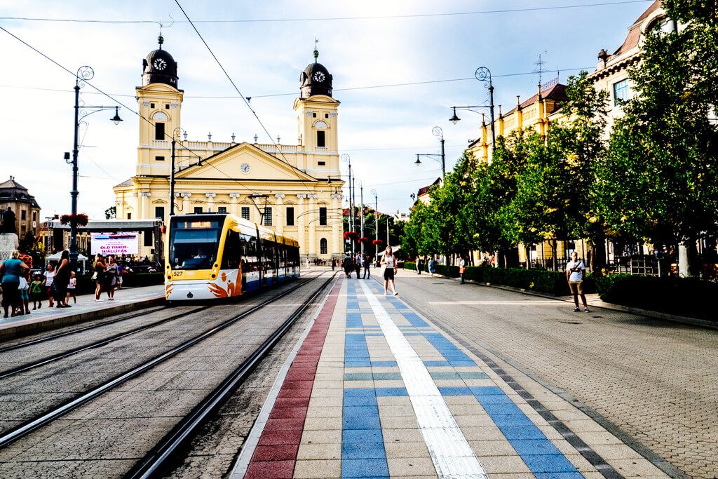Debrecen Old Town and Tram