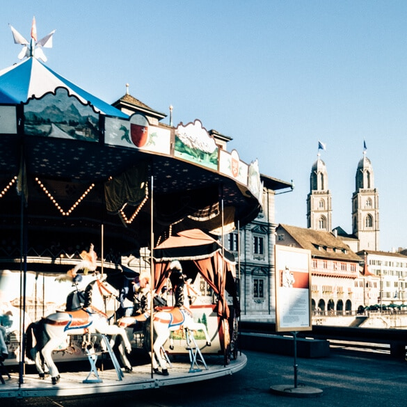 Carousel in Zurich Old Town