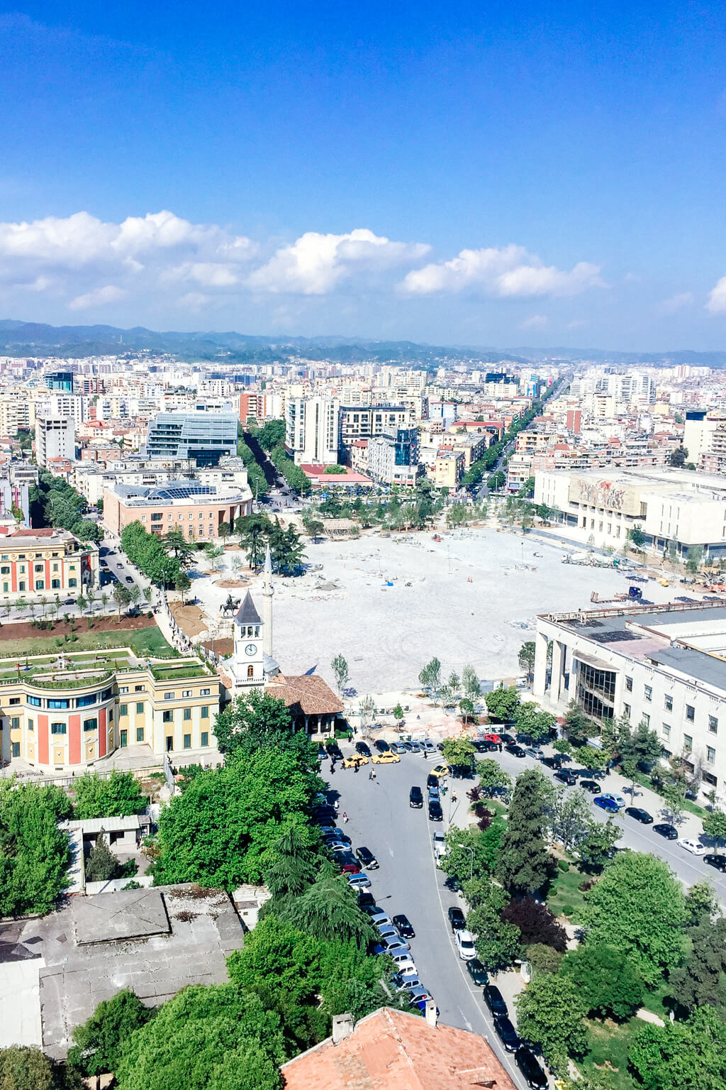 Tirana in 2017 from the Plaza Hotel