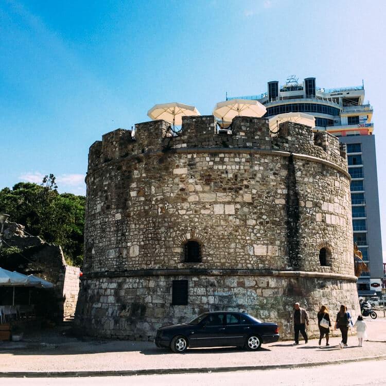Starting the Via Egnatia in Durres, Albania