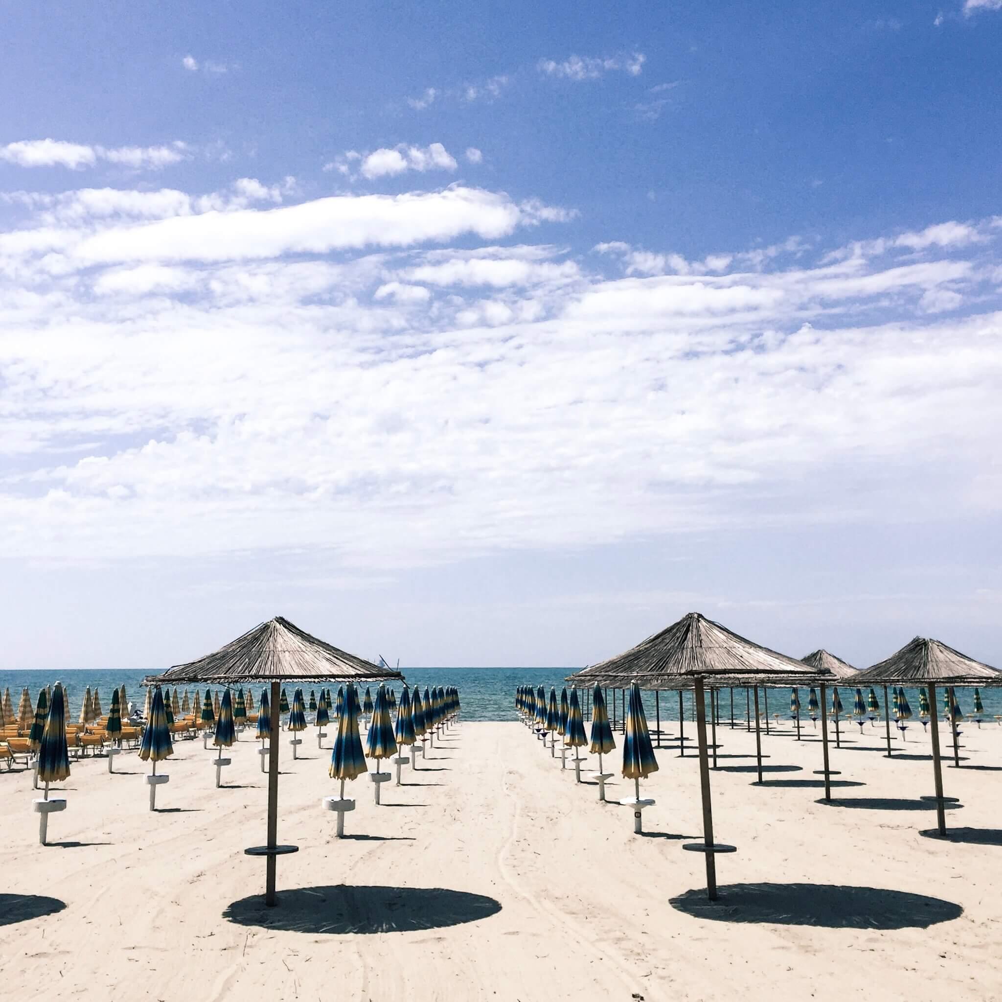 Durres Beach Umbrellas