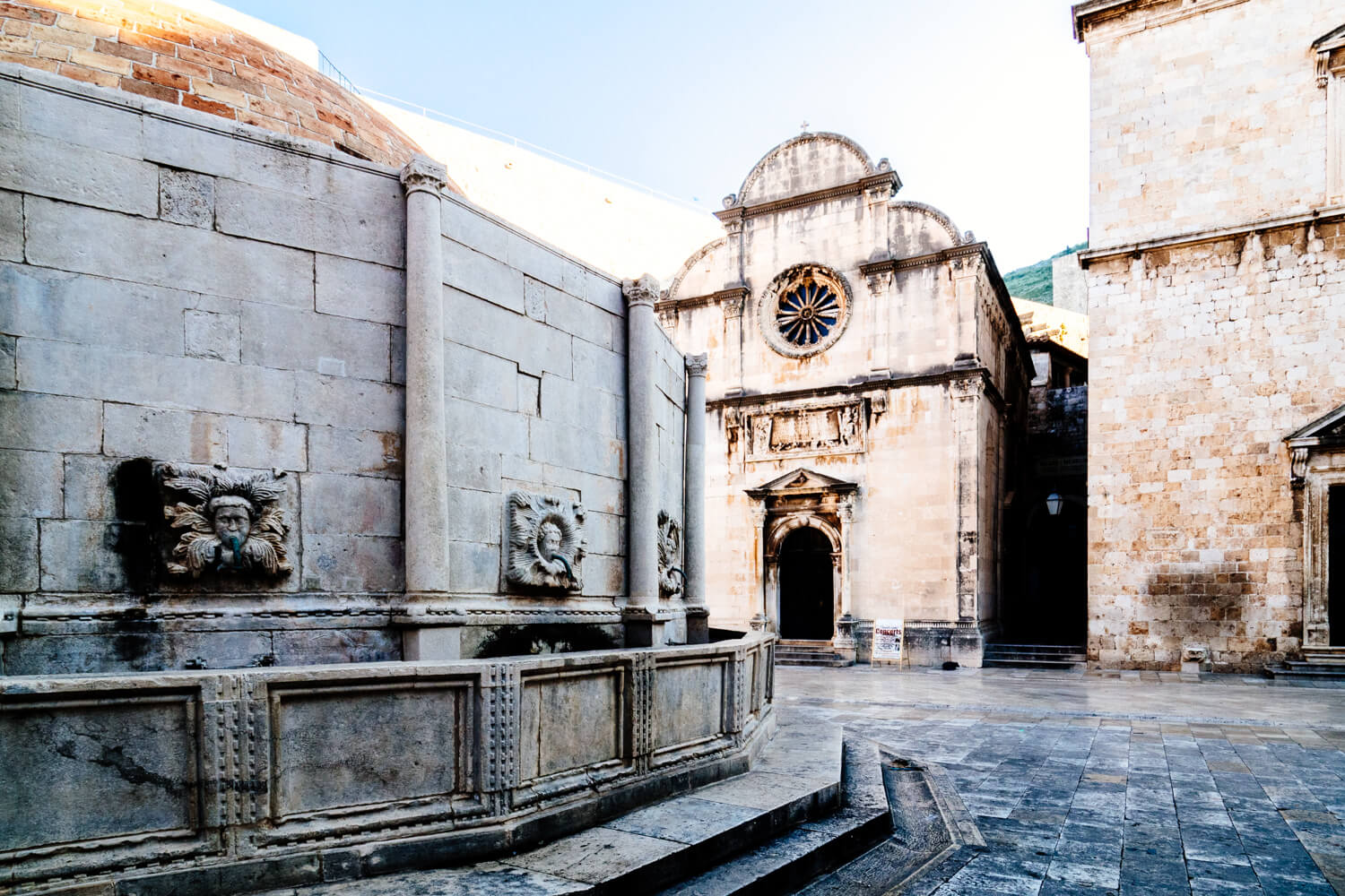 Dubrovnik's Old Town Fountain