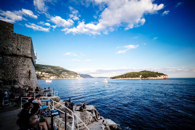 Rocky Beach Bar in Dubrovnik