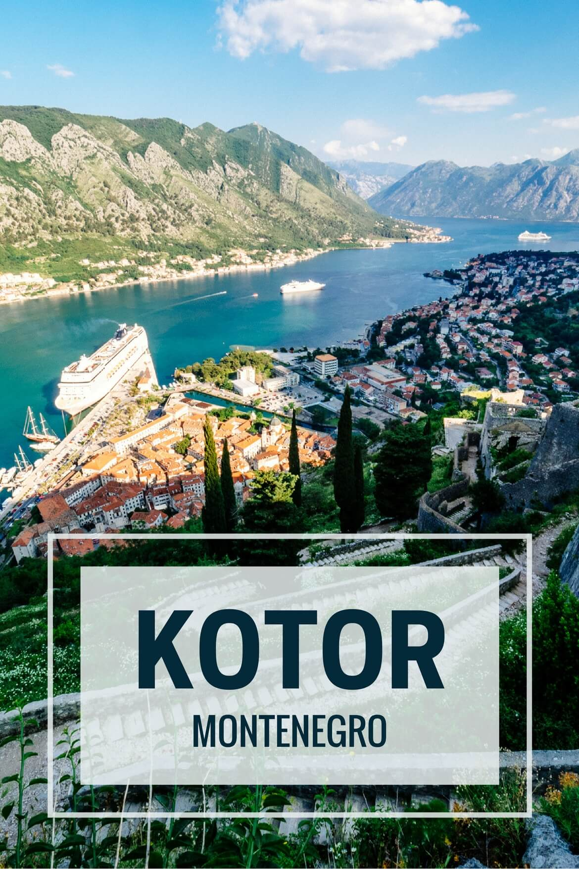 Kotor one day itinerary and that view for Hotel design kotor