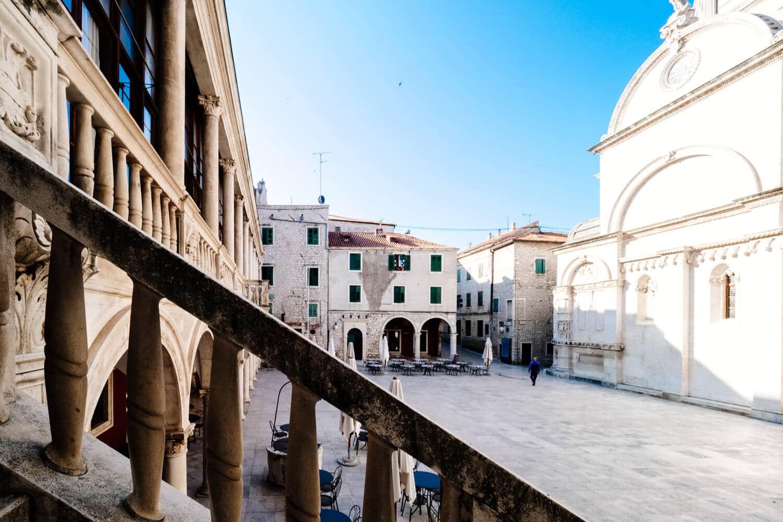 Sibenik Main Square and Cathedral
