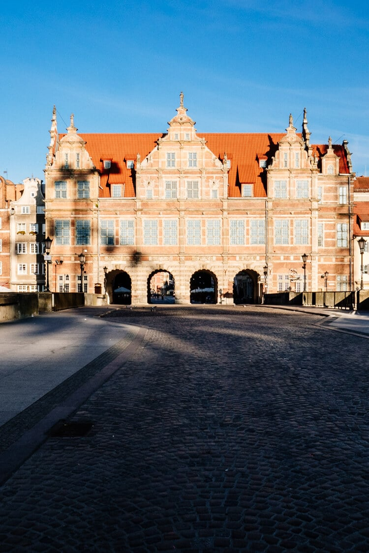 The Green Gate entrance to the Long Lane in Gdansk Main Town.