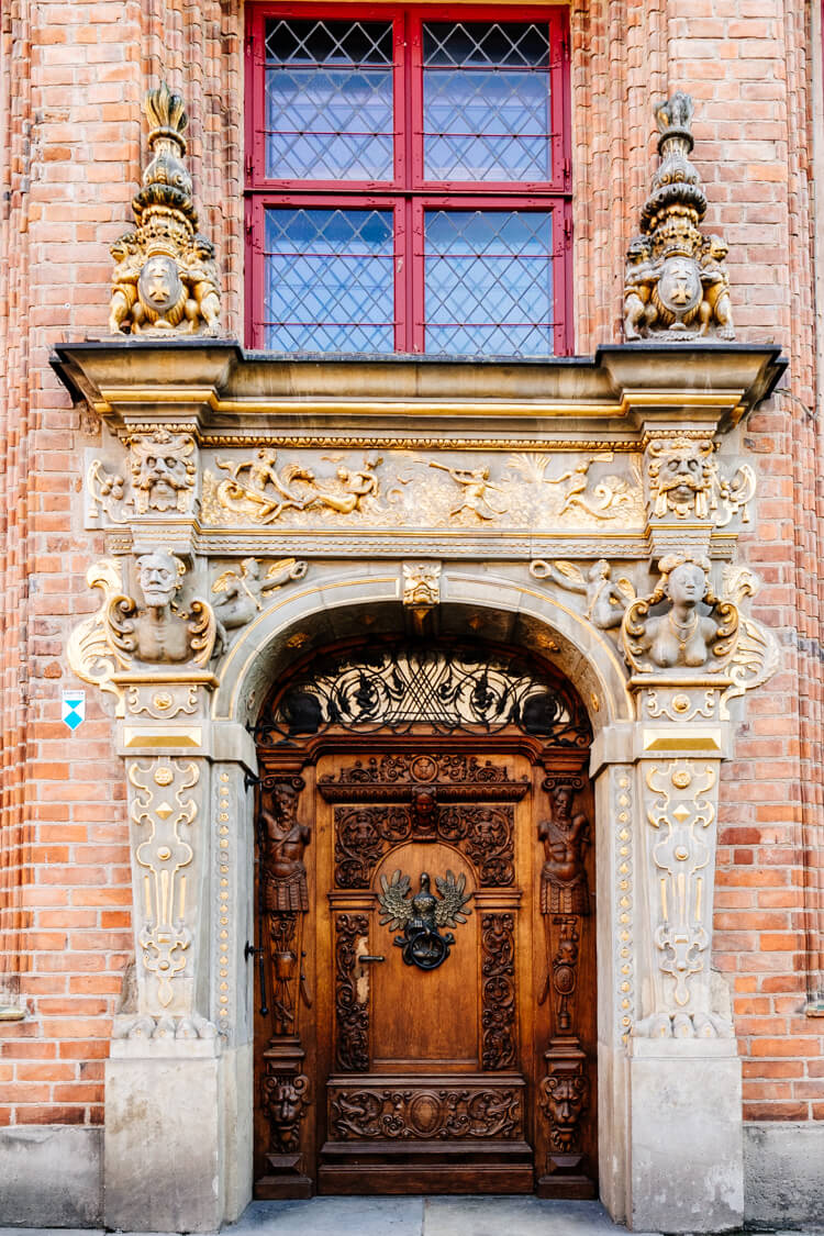 Beautiful ornate door of which there are many in Gdansk. #door #gdansk #poland