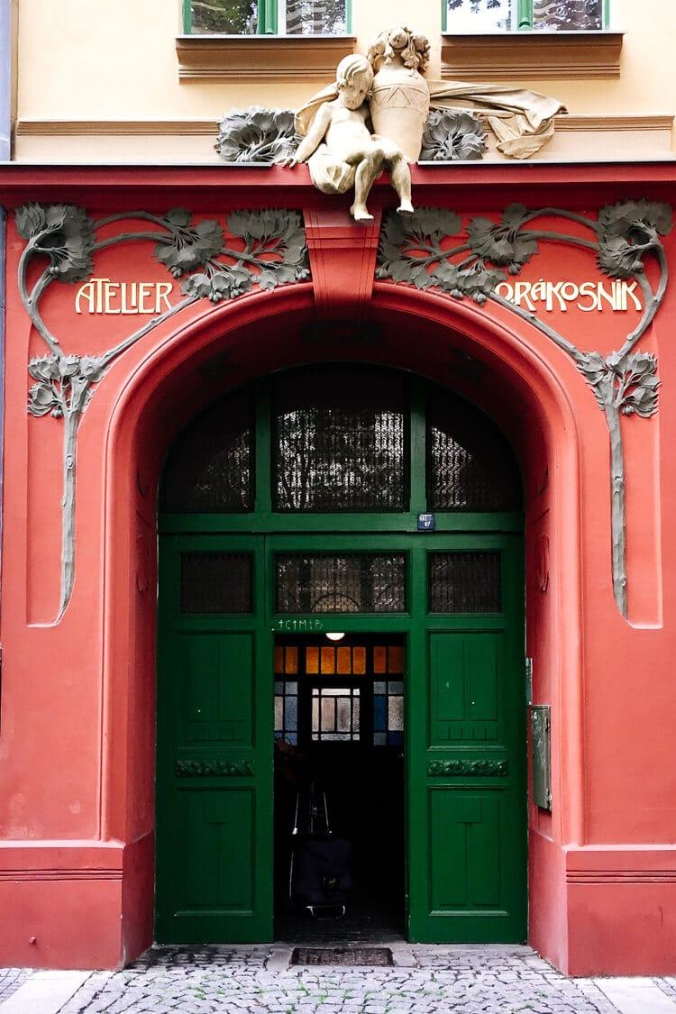 Art Nouveau Door in Karlin