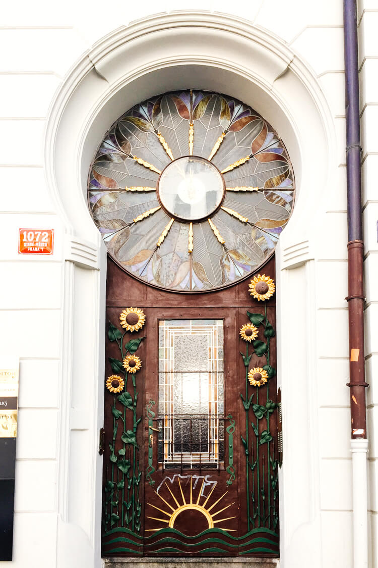 Art Nouveau Door in Stare Mesto, Prague
