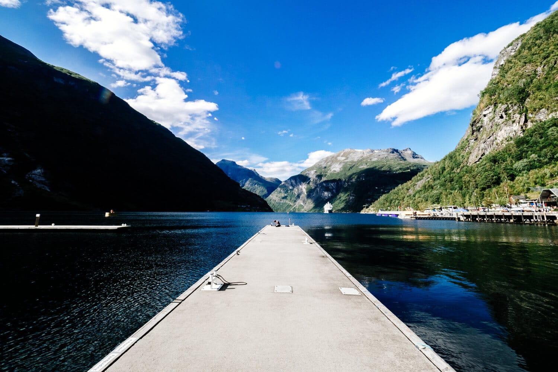 Geiranger Fjord Norway in Summer