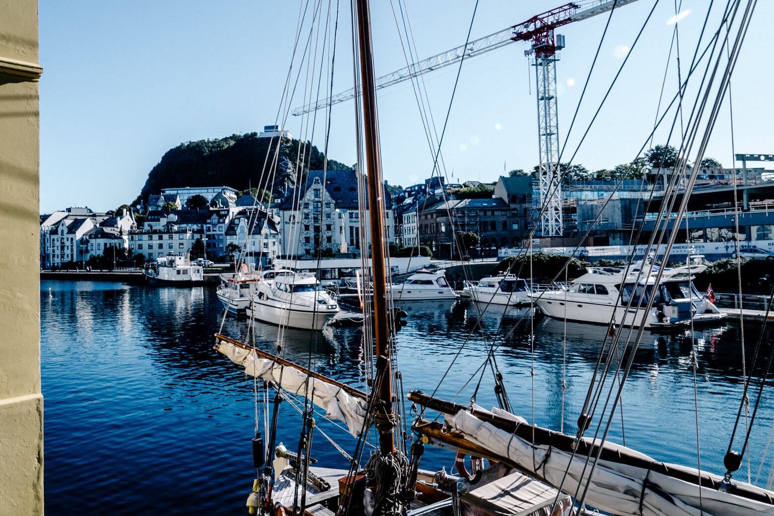 Boats in Alesund Harbour