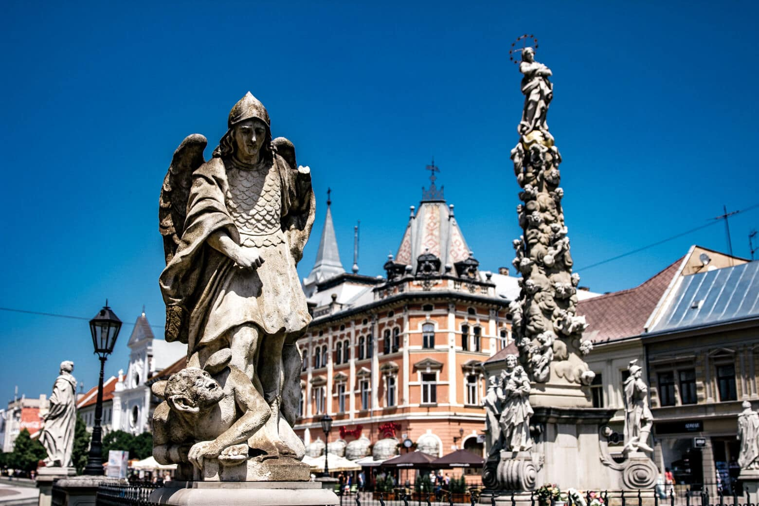 Statues in Kosice Slovakia