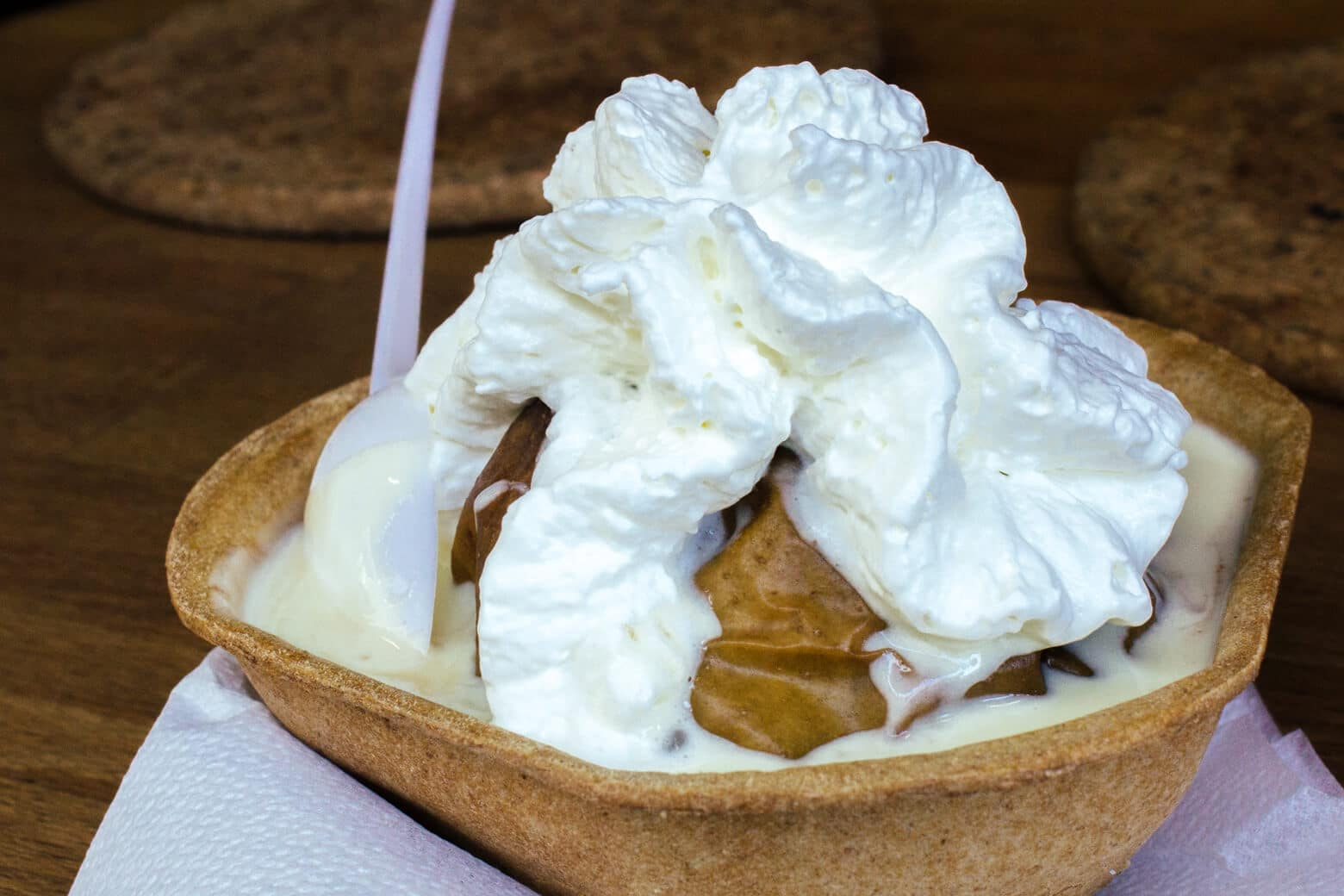 Baked Apples with Whipped Cream