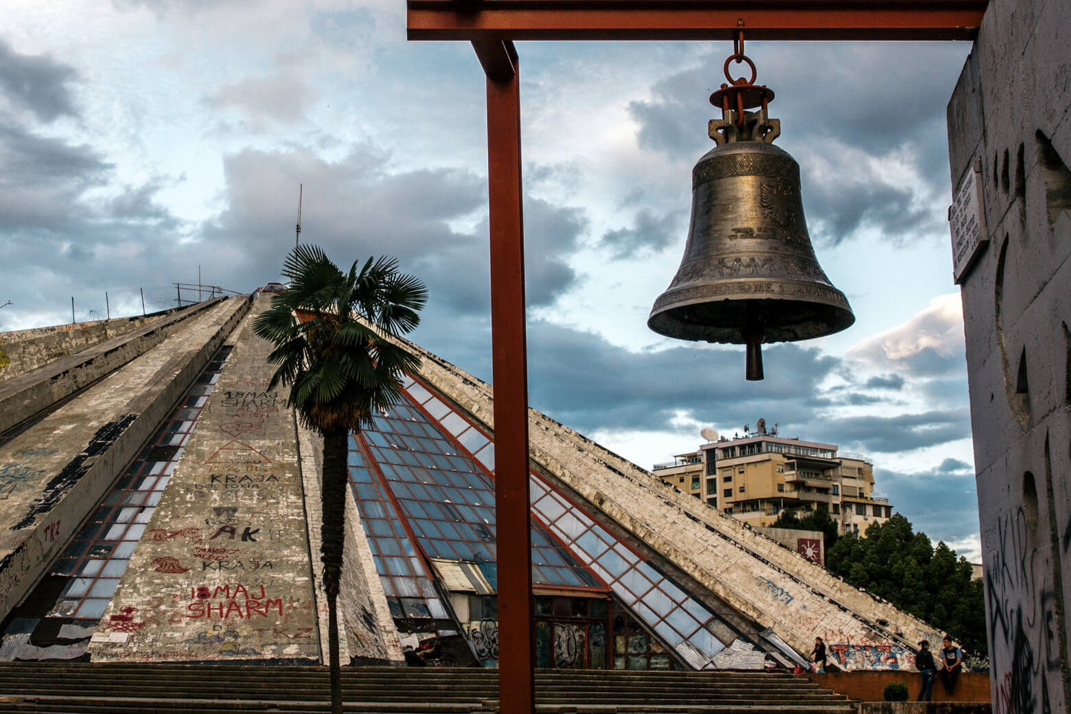 Pyramid of Tirana & Peace Bell
