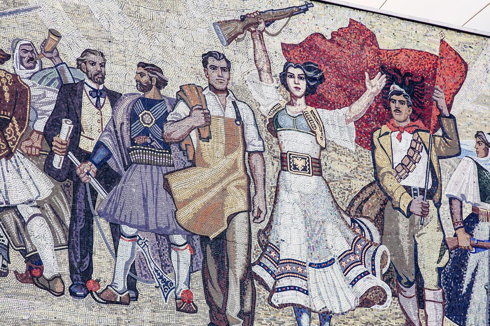 Tirana Communist Mural
