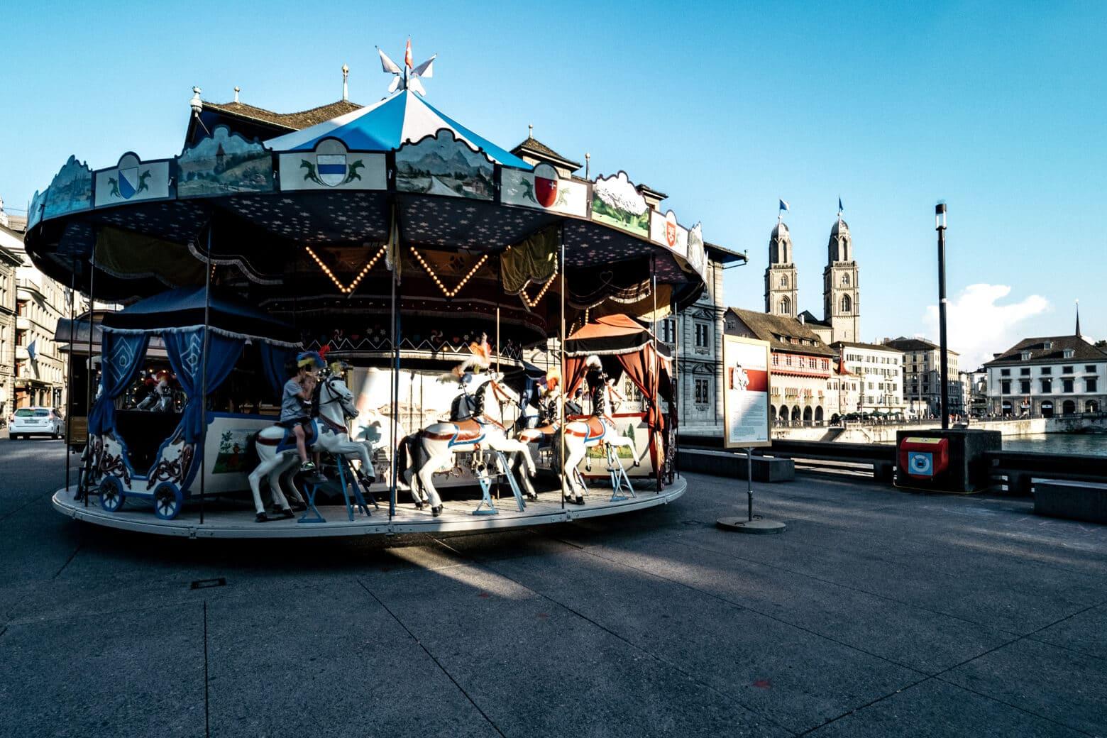 Carousel in Zurich, Switzerland