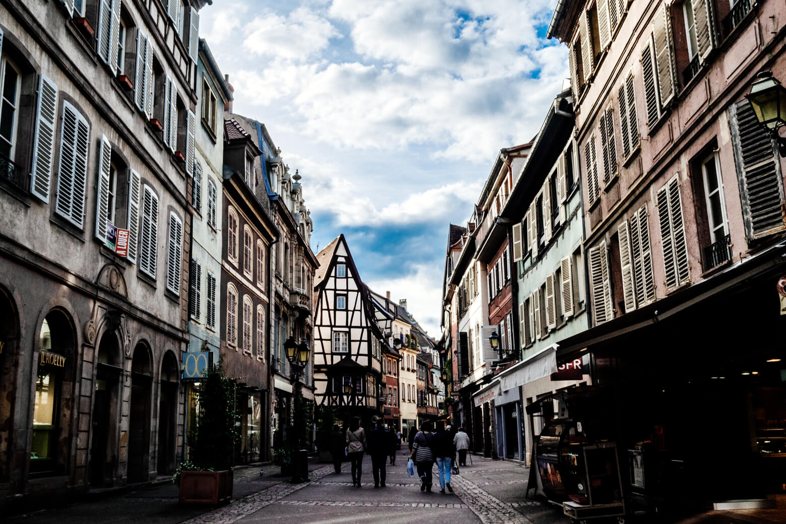 Colmar's Main Shopping Street