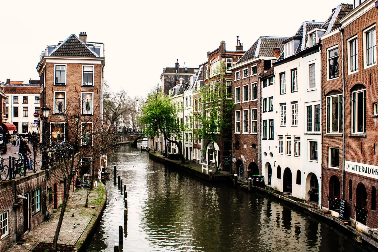 Canal in Utrecht, Netherlands
