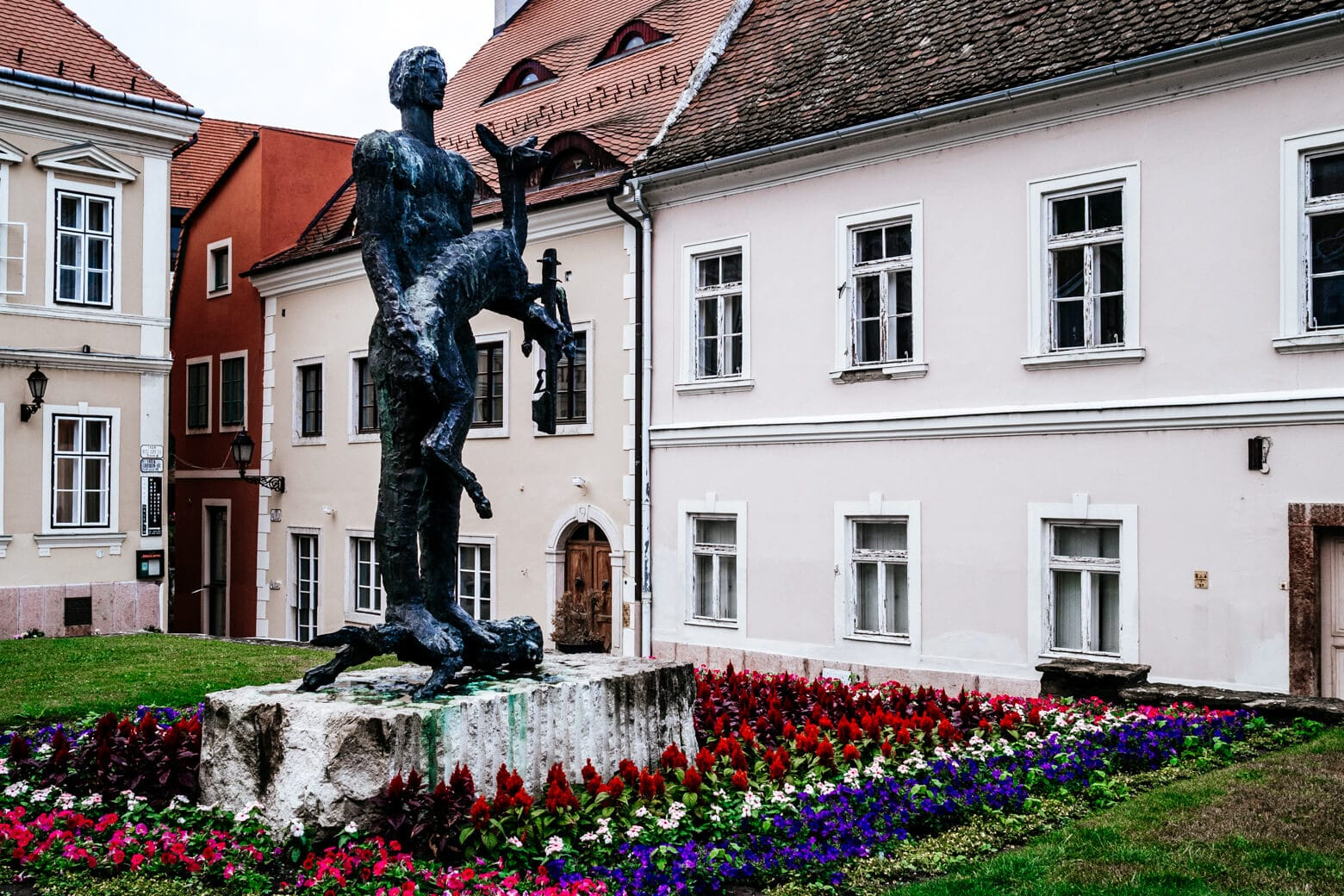 Vienna Gate Square in Gyor Hungary